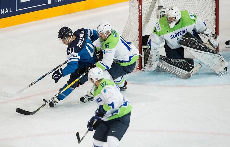 Slovenija - Finska, hokej